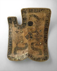 Horseman's Shield (Targe)                                                                                      Date:                                        early 15th century                                                          Culture:                                        probably Austrian                                                          Medium:                                        Wood, leather, gesso, silver foil, polychromy