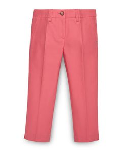 Z1DW4 Gucci Pleated Stretch Jeans, Coral, Size 4-12