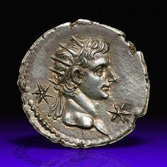 Gaius Caligula, with Divus Augustus. Silver Denarius (3.77 g), AD 37-41.