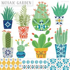 Mosaic-Garden_Set-Cover cactus illustration