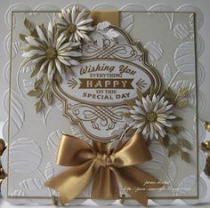 aster flowers and embossing. - pamscrafts