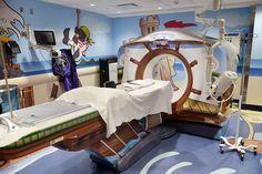 Sala de Tomografia do núcleo de Radiologia Pediátrica do Hospital Infantil Presbiteriano Morgan Stanley, idealizado por Carrie Ruzal-Saphiro | NY
