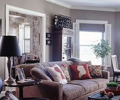 Living Room Decor : Illustration Description Stacking accessories can add visual interest and contain the clutter: www.bhg.com/… - #LivingRoom