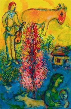 Marc Chagall - Le buisson rose, 1975-80