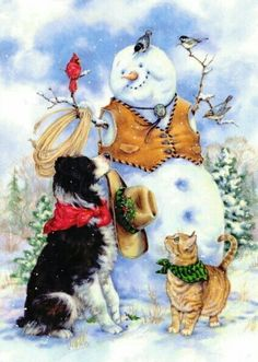 Snowmen series -- by Donna Race; © Race Studio