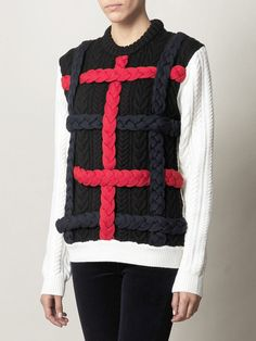 $547 Braided Cable Knit Sweater - Lyst