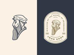 John Knox 3 / Illustration / Graphic Design / Branding / Ideas / Inspiration / Line Art / Monochromatic Art And Illustration, Graphic Design Illustration, Tableau Logo, Logo Branding, Branding Design, 3 Logo, Branding Ideas, Logo Inspiration, Cl Design