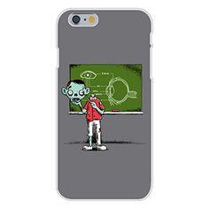 Apple iPhone 6 Custom Case White Plastic Snap On - 'Eye Lesson' Zombie Teaching About Eyeball