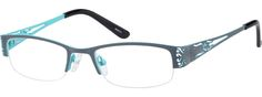 Gray Stainless Steel Half-Rim Frame With Spring Hinges #6950 | Zenni Optical Eyeglasses