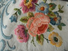 Marvelous Crewel Embroidery Long Short Soft Shading In Colors Ideas. Enchanting Crewel Embroidery Long Short Soft Shading In Colors Ideas. Crewel Embroidery Kits, Embroidery Needles, Gold Embroidery, Embroidery Patterns, Machine Embroidery, Simple Embroidery, Seed Stitch, Beaded Jewelry Patterns, Embroidery Techniques