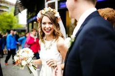 A whimsical handmade wedding by Janelle Elise Photography - Wedding Party
