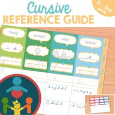 Cursive Handwriting Practice - Reference Guide : This reference guide is great for both teachers and students. Get a quick glance of every stroke and modification for each letter stroke category (the onomatopoeias).You& also find both upper Learning Cursive, Cursive Handwriting Practice, Upper And Lowercase Letters, Lower Case Letters, Learn To Write Cursive, Teaching Kids To Write, Letter Formation, Pre Writing, Return To Work