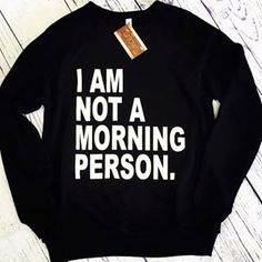 I'm not a morning person // - S-2XL by LittleUptownKids on Etsy