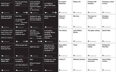 At cardsagainsthumanity.com, you can download the PDF and make your own Cards Against Humanity game. It's like Apples to Apples only so much better. Even for people who scoff at Apples to Apples. | cards against humanity manufacturers - Google Search