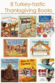 8 Thanksgiving Books - perfect for your little turkeys!