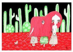 #dessert #red #girl #illustration