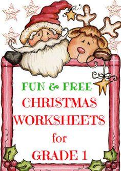 Christmas Math Worksheet Freebie- Math Center