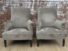 Armchairs to re upholster in soft colour woven fabric- put opposite sofa