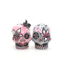 Day of the dead love | day of the dead bride groom skull lover wedding cake topper