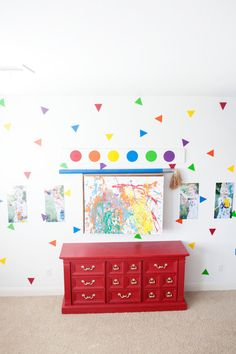 Looking for a fun pop to your home? Try our new Triangle Wall Decals. Our vinyl decals are in a variety of colors and sizes! Each sheet measures approx. 12x24. Comes with easy instructions on how to apply to any surface. Easily removed and repositioned. If you order more than one decal we will combined them together and refund any overage of shipping fees. Decals ship separately from all other items to ensure they arrive undamaged.  Looking for a different shape, please convo us, we LOVE…