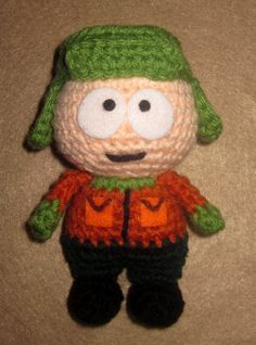 Adorable crochet Amigurumi South Park  Kyle Broflovski on Etsy, $22.00