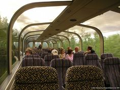 I want to see Alaska in a glass top train!