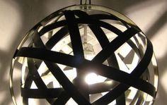 chandelier made from wine barrels