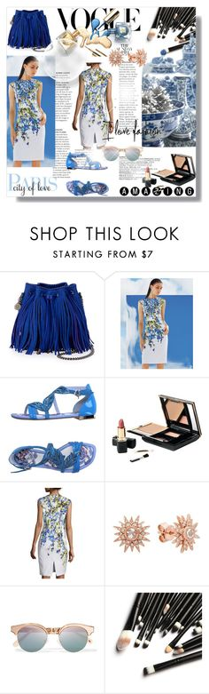 """""""Amazing Paris, City of Love"""" by sanlebru ❤ liked on Polyvore featuring Lazaro, STELLA McCARTNEY, St. John, Fabi, Kenza Lee and Le Specs"""