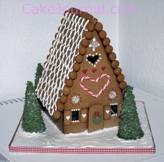 Gingerbread house~A-frame ginger bread house
