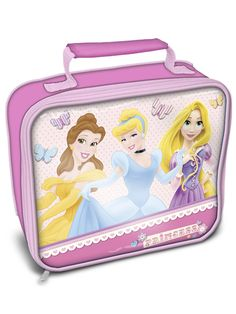 Disney Princess Insulated Lunch Bag 100 Official Disney MerchandiseColourful lunch bag featuring Belle Cinderella and Rapunzel Ideal for school