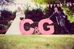 photo Amevet Rozenn  Lettres géantes / intitiales mariés