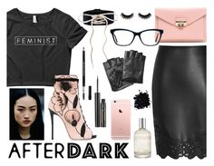 """Feminist After Dark"" by wearyourdissent ❤ liked on Polyvore featuring Giuseppe Zanotti, Christian Dior, Elizabeth Arden, (MALIN+GOETZ), Karl Lagerfeld and feminist"