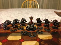 Full set of painted enemy minis from Mice and Mystics