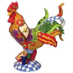 Sharon Neuhaus Ceramic Chicken Sandwich Rooster Figurine Rooster Kitchen Decor, Rooster Decor, Fancy Chickens, Chickens And Roosters, Chicken Crafts, Chicken Art, Westland Giftware, Ceramic Chicken, Ceramic Rooster