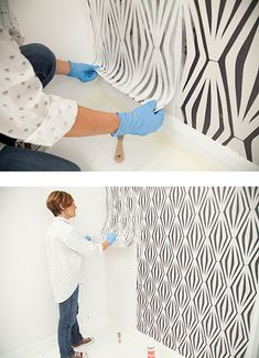 Etape 3 Décoller le papier peint en tirant doucement