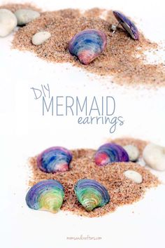 ADORABLE Mermaid earrings! Make these DIY seashell earrings in minutes! It's a summer craft that's good for all ages, including kids, teens, and adults as well.