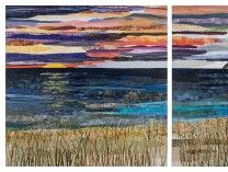 """$200,000 was won by Ann Loveless for """"Sleeping Bear Dune Lakeshore"""" at ArtPrize, a radically open art contest in Grand Rapids, Michigan.  The ultimate People's Choice Award was given for a quilt!"""