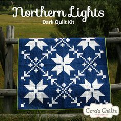 Northern Lights #Quilt Kit - Dark & Light colorways available.  Pattern by Cora's Quilts