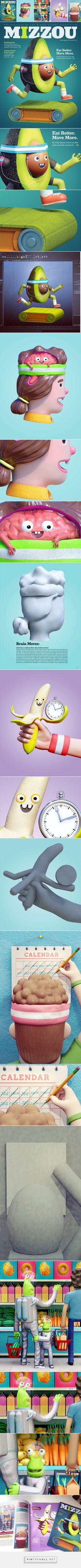EAT BETTER & MOVE MORE: Mizzou on Digital Art Served - created via http://pinthemall.net