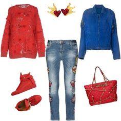 Look fiammante  outfit donna Trendy per tutti i giorni  908eb2ebd3b
