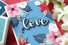 SSS-Hope Blooms dies - stamps one layer of the flowers on colored cardstock then uses the dies to cut out