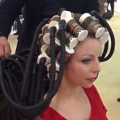 what's happening here? Wet Set, Perm Rods, Bobe, Hair Salons, Roller Set, Thats The Way, Curlers, About Hair, Big Hair