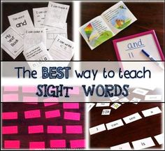 The Best Way to Teach Sight Words - fun ideas