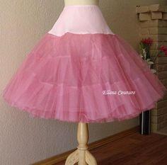 new Barbie petticoat blush peach tea length or full your choice