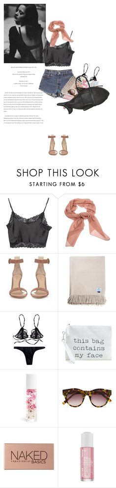 """coz i love you - Slade"" by rosa-loves-skittles ❤ liked on Polyvore featuring Brandy Melville, Salvatore Ferragamo, Levi's, Gianvito Rossi, Blossom, Elizabeth and James, Urban Decay, Peter Thomas Roth and Thom Browne"