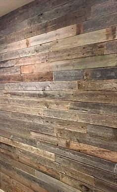 Reclaimed barn Wood Wall Paneling, Planks for Accent Walls Square Foot Sample Pack) Plank Walls, Wood Panel Walls, Plank Flooring, Wood Planks, Wood Paneling, Hardwood Floors, Wooden Accent Wall, Wood Wall, Accent Walls