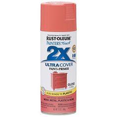 RUST-OLEUM 283189 12 oz. Gloss Coral General Purpose Spray Paint, Peach Rust-Oleum http://www.amazon.com/dp/B00RGFLYSY/ref=cm_sw_r_pi_dp_-VwMvb0YVSA1G