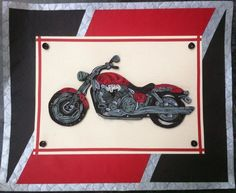 This A3 size Quilled Thunderbird is perfect for a adventerous person who is crazy for bikes/motorcycles. Product URL…