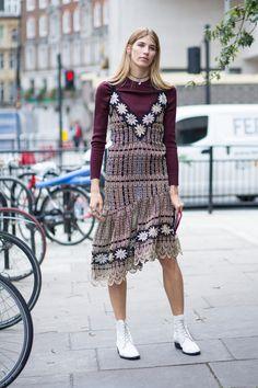 Velvet Was Everywhere on Monday Outside London Fashion Week - Fashionista