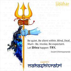 Quote by Swami Chinmayananda... Happy Mahashivratri!  #shiva #mahashivratri #hindufestival #omnamahshivay #vibhuti #bhasma